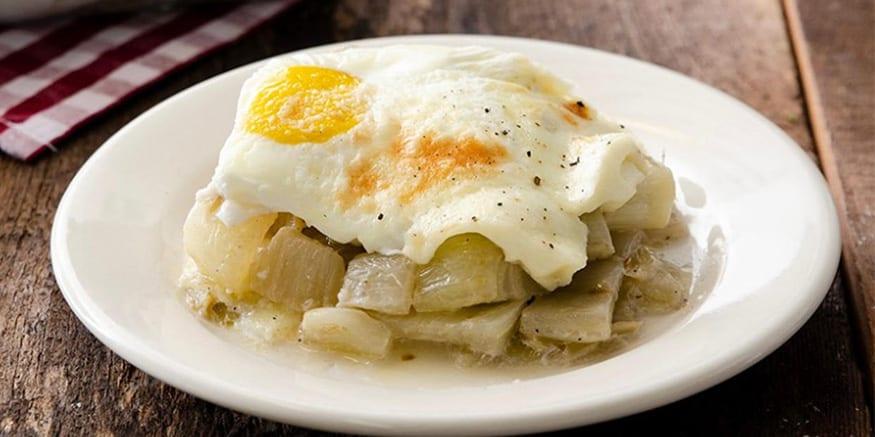 Finocchi al forno con mozzarella e uova